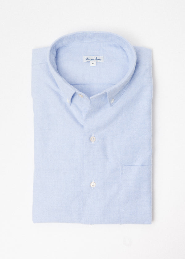 Single Needle Shirt in Blue Oxford