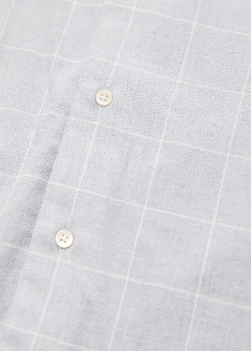 Single Needle Shirt in Steel Windowpane
