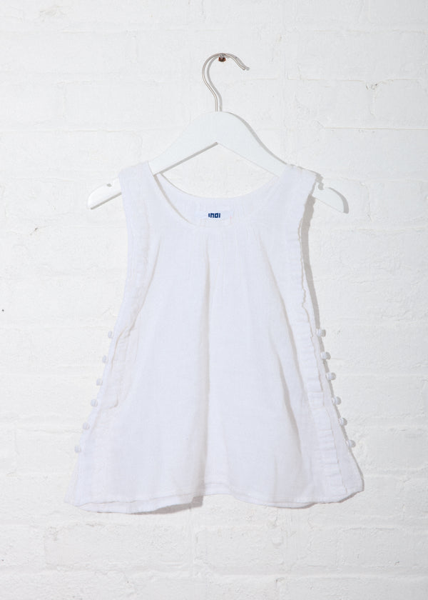 Rove Dress in Off-White Double Gauze