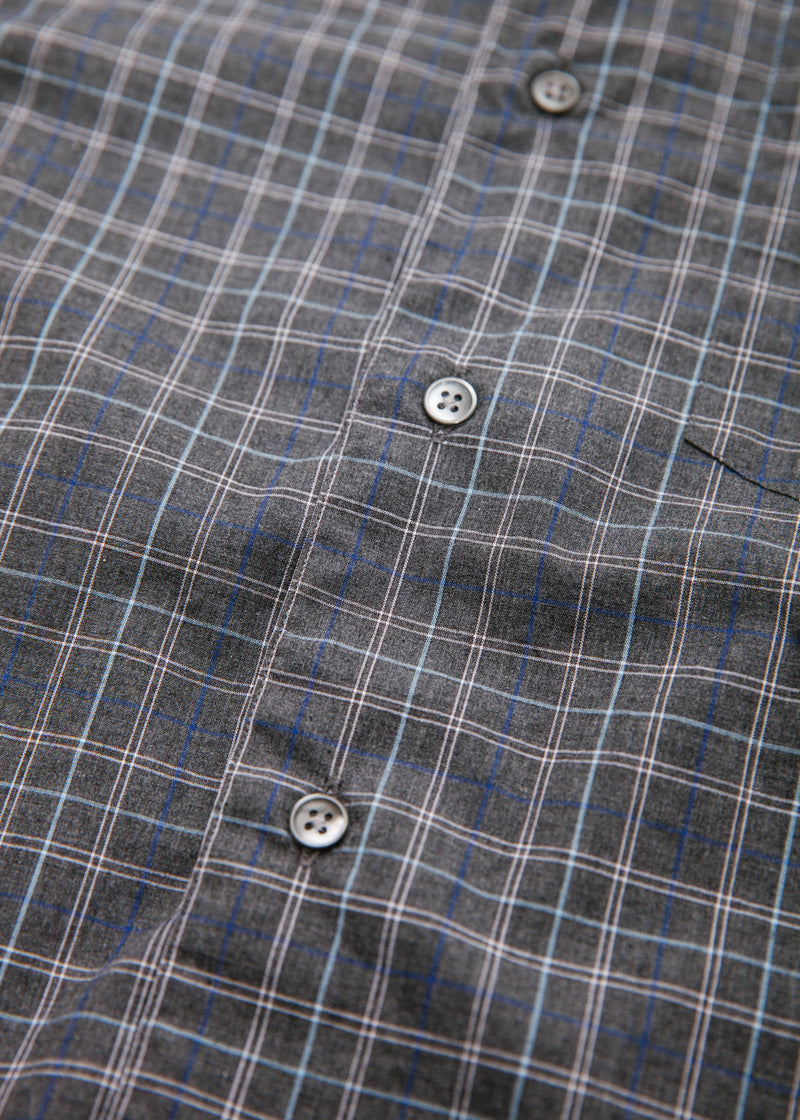 Single Needle Shirt in Pepper Plaid