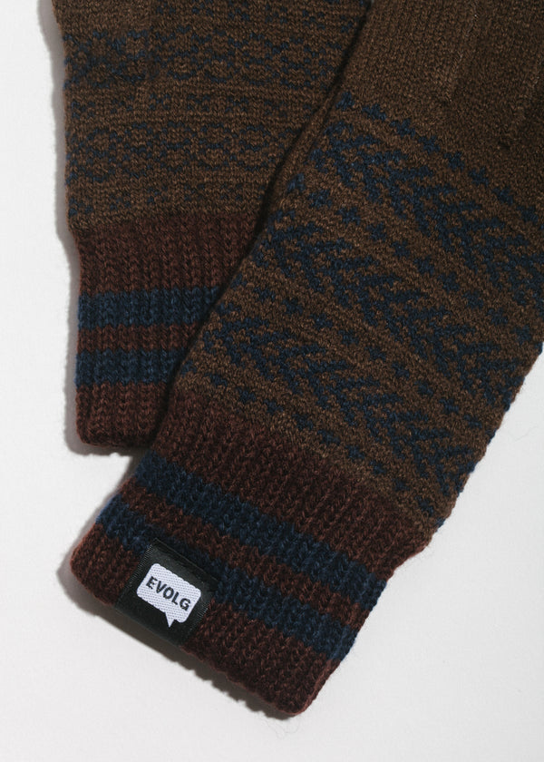 Bon Touchscreen Gloves in Brown