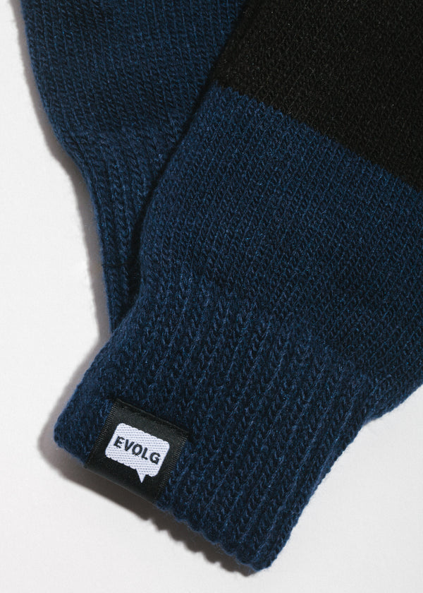 2Ton Touchscreen Gloves in Black x Navy
