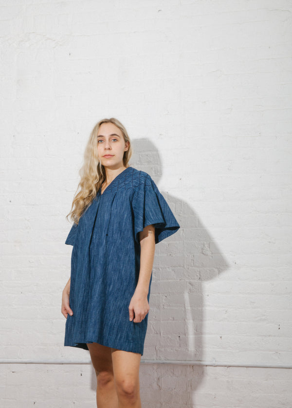 Cali Dress in Sakiori Space Dyed Stripe
