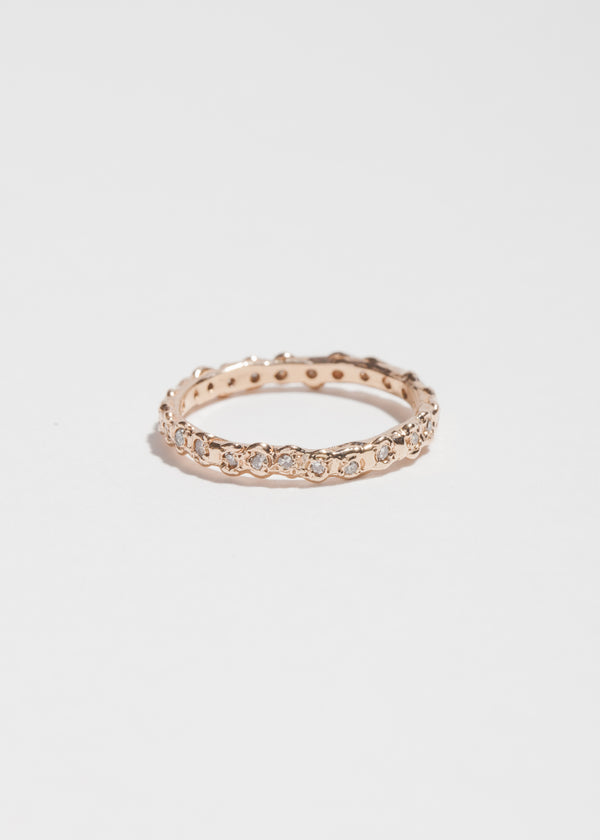 14k Rose Gold 24 Diamond Eternity Ring