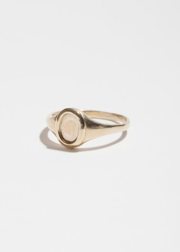 Small Platter Ring in 14k Gold