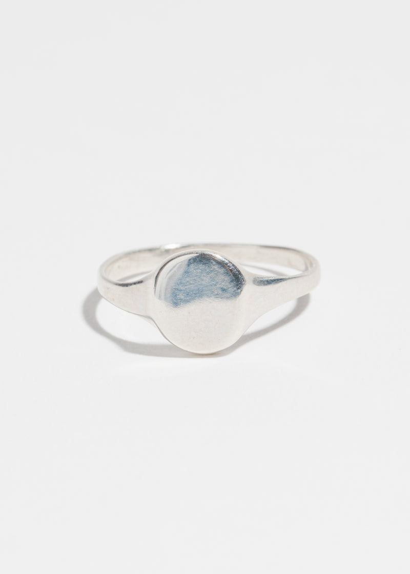 Petite Signet Ring in Sterling