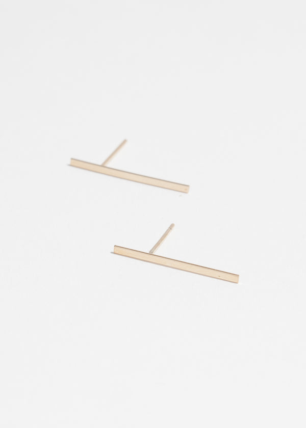 14k Gold Long Stick Studs