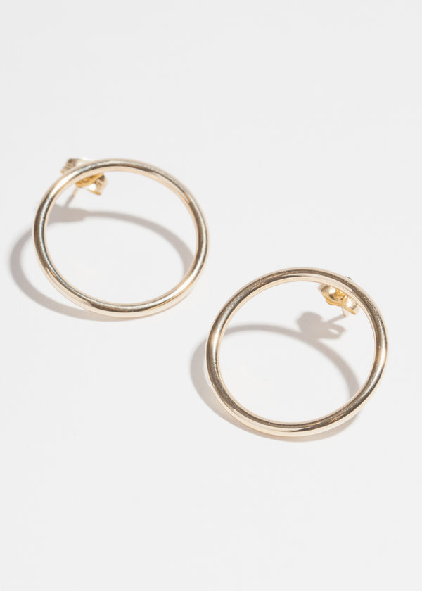 14k Gold High Polish Loop Earrings
