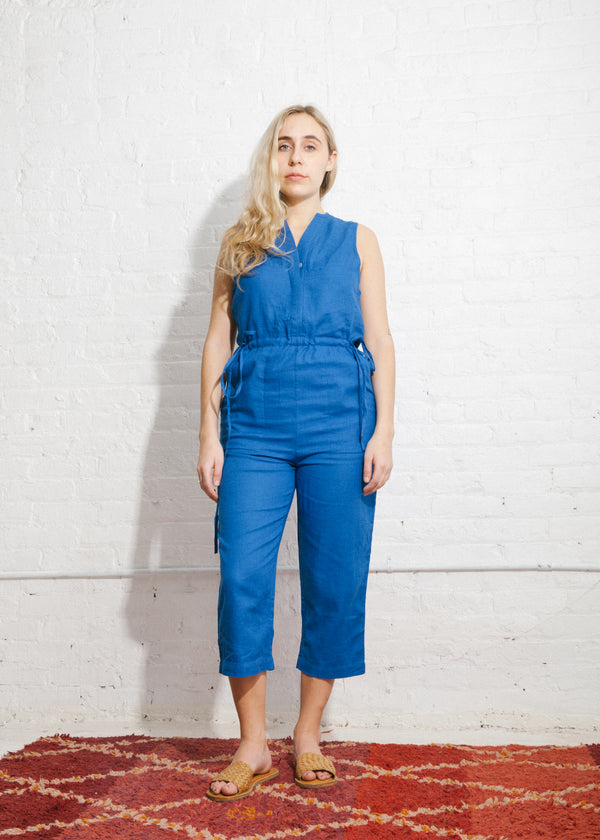 Camper Jumpsuit in Cobalt