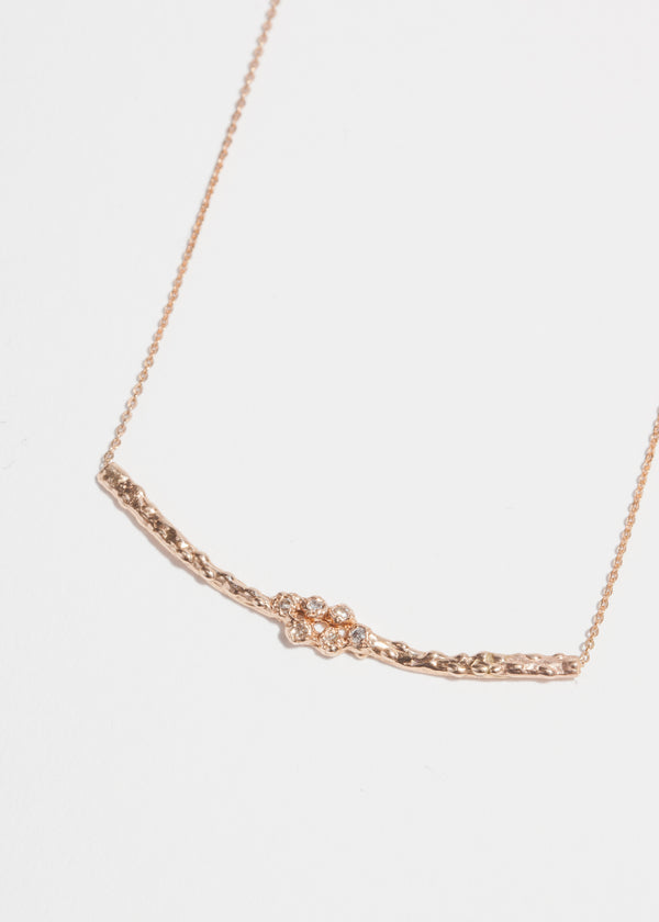 14k Gold 6 Diamond Cluster Necklace
