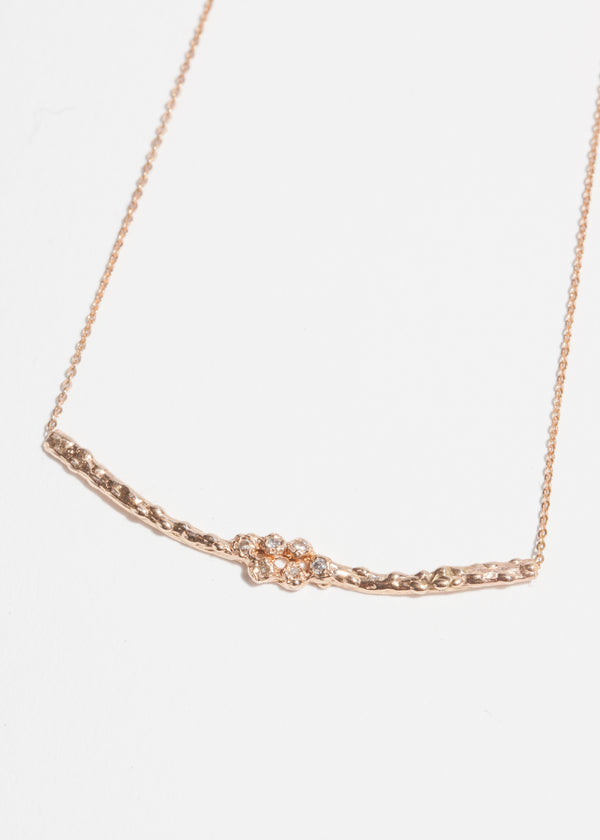 14k Gold Six Diamond Cluster Necklace