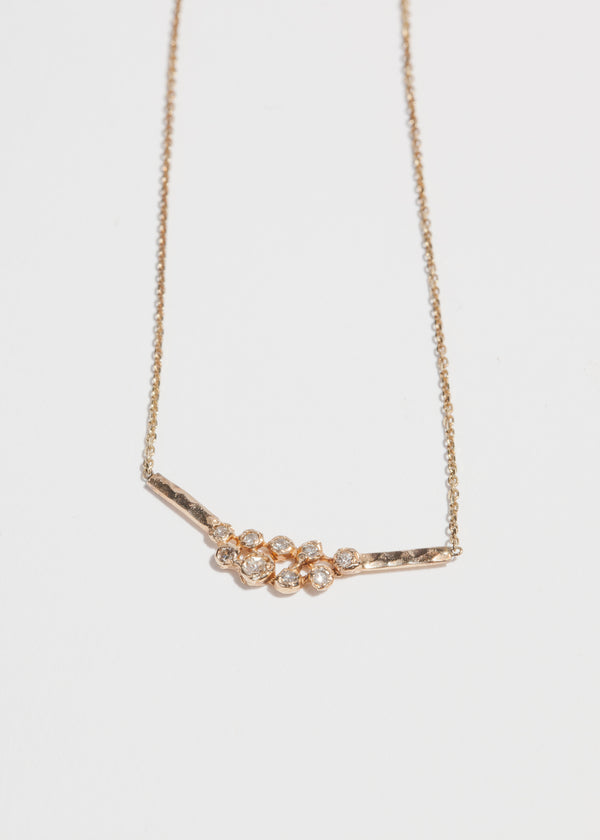 Nine Diamond Cluster Necklace