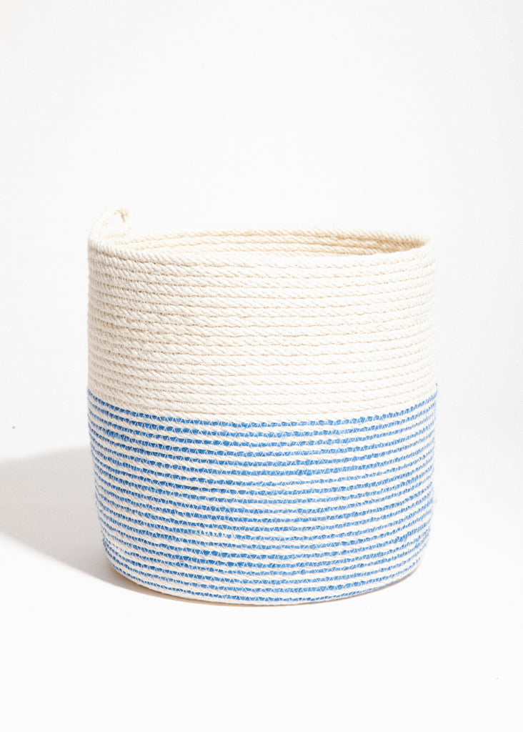 Large Bucket in Blue + Natural