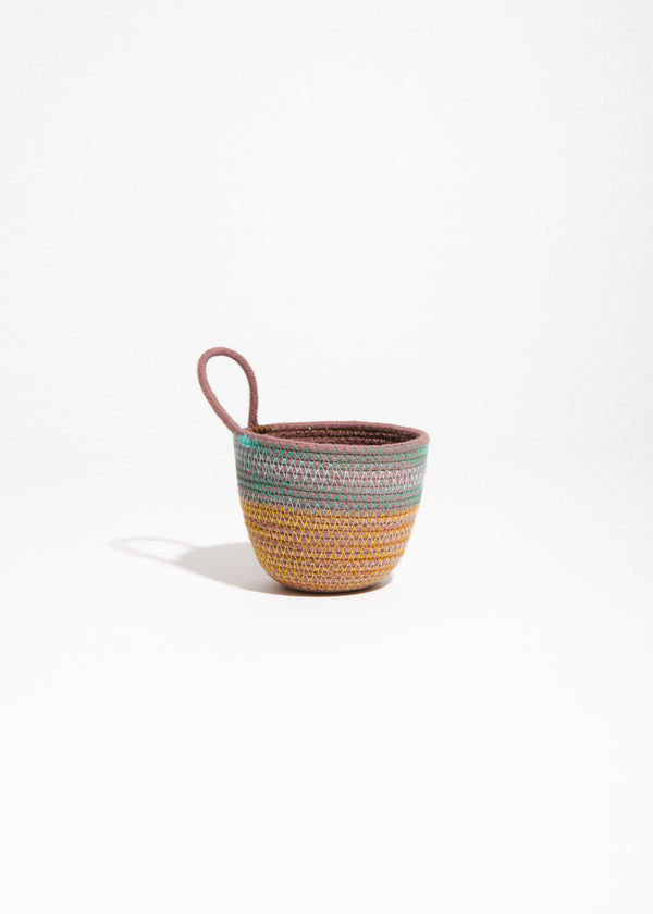 Mini Planter in Teal/Marigold