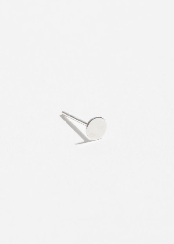 Sterling Silver Polished Flat Stud