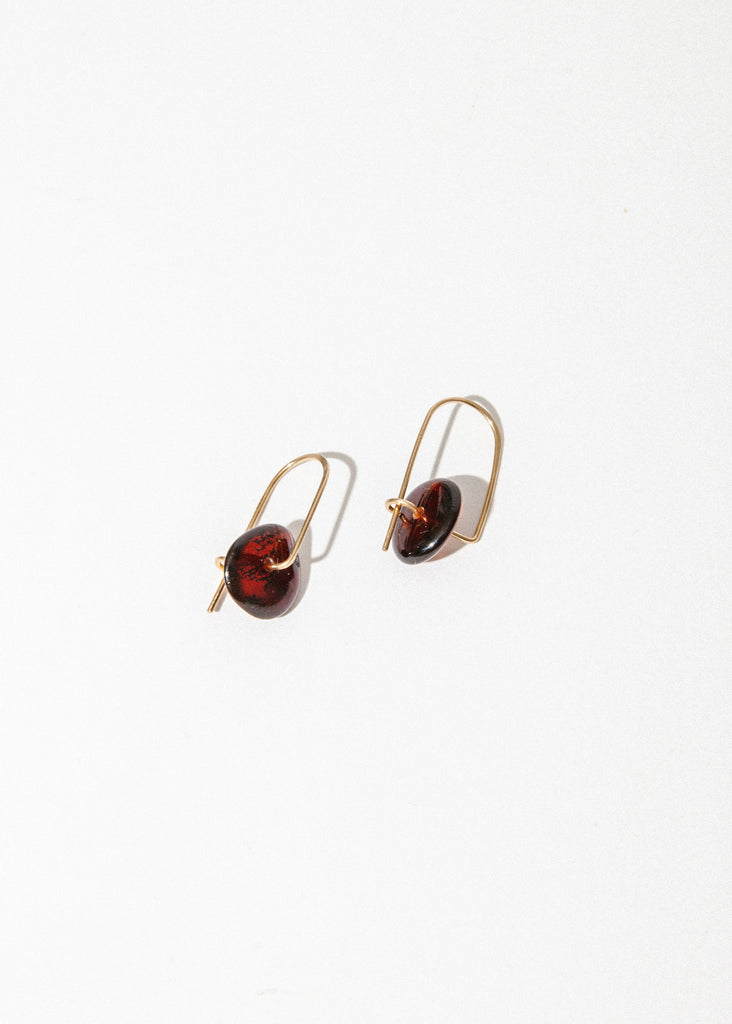 Stone Mobile Earrings in Scotch Amber