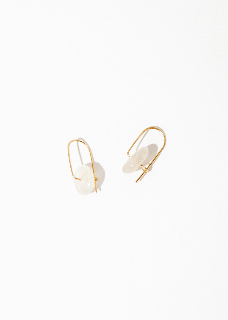 Stone Mobile Earrings in Moonstone