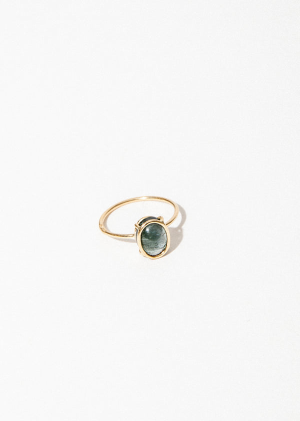 14K Floating Ring in Tourmaline
