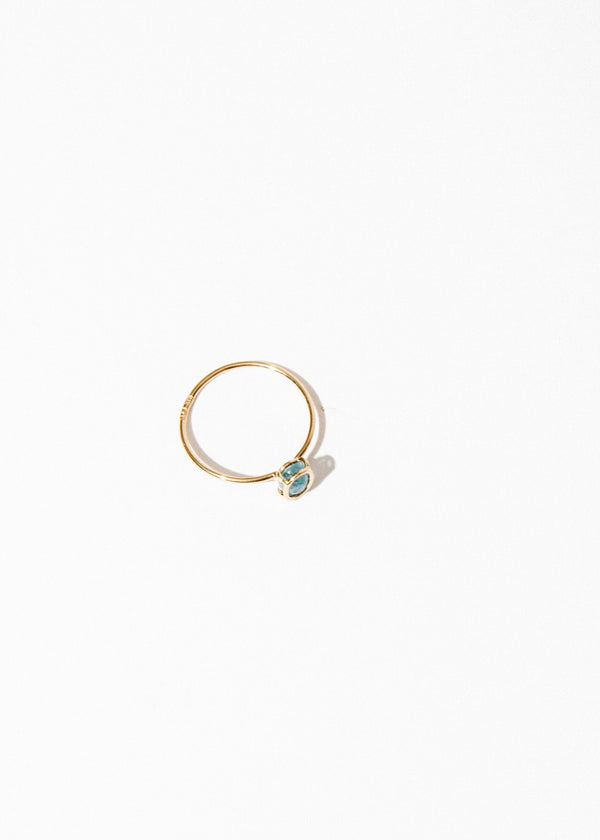 14K Floating Ring in Aquamarine