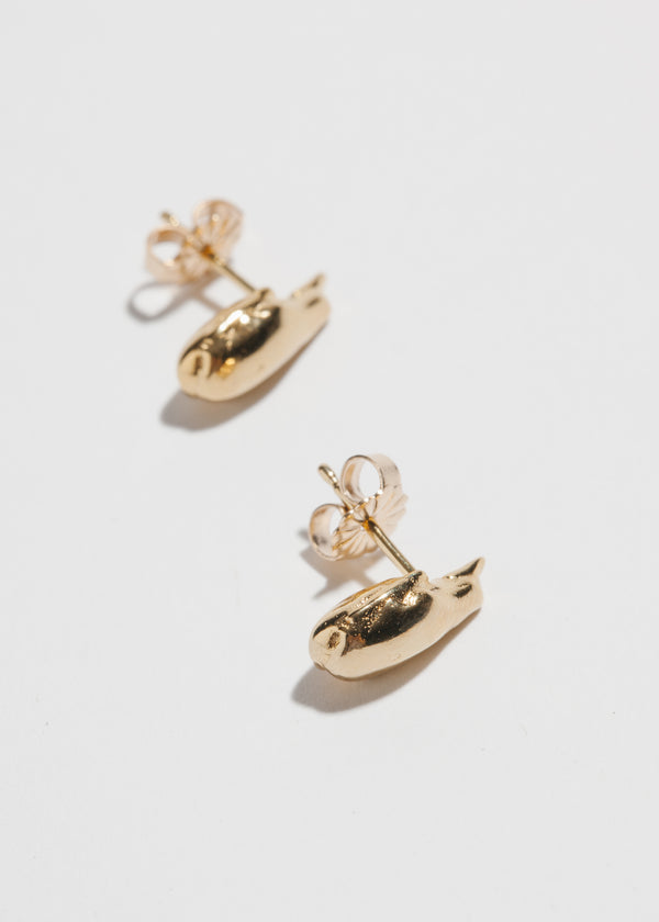 Droplette Studs in 14k Plated