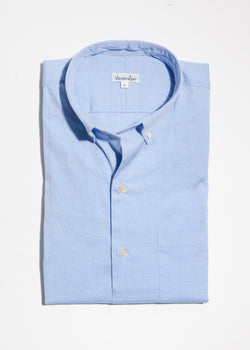 Single Needle Shirt in Blue Pinpoint Oxford