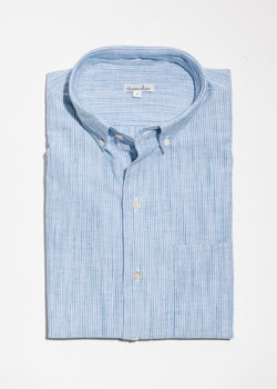 Single Needle Shirt in Summer Stripe
