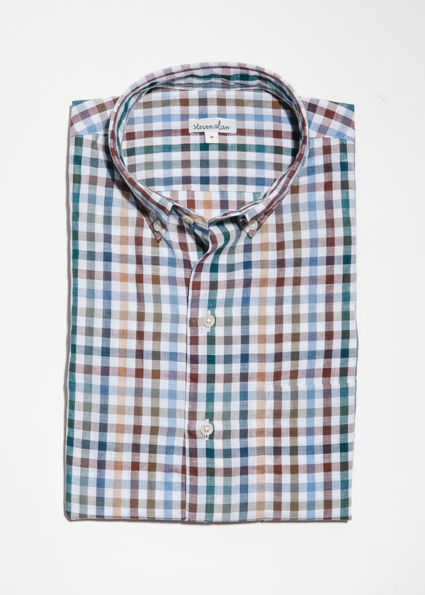 Single Needle Shirt in Picnic Linen