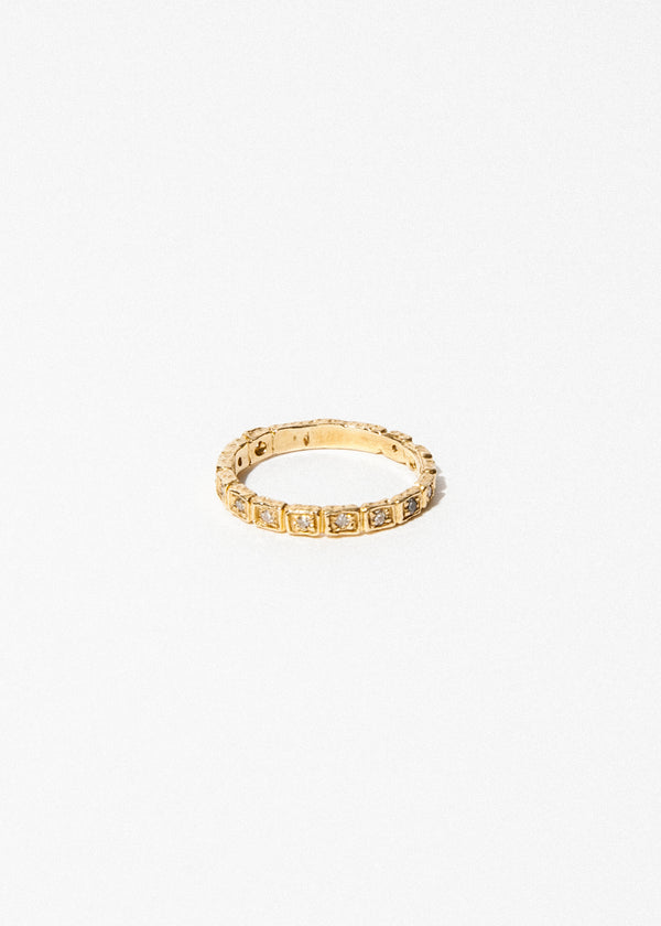 14k Gold 14 Diamond Band