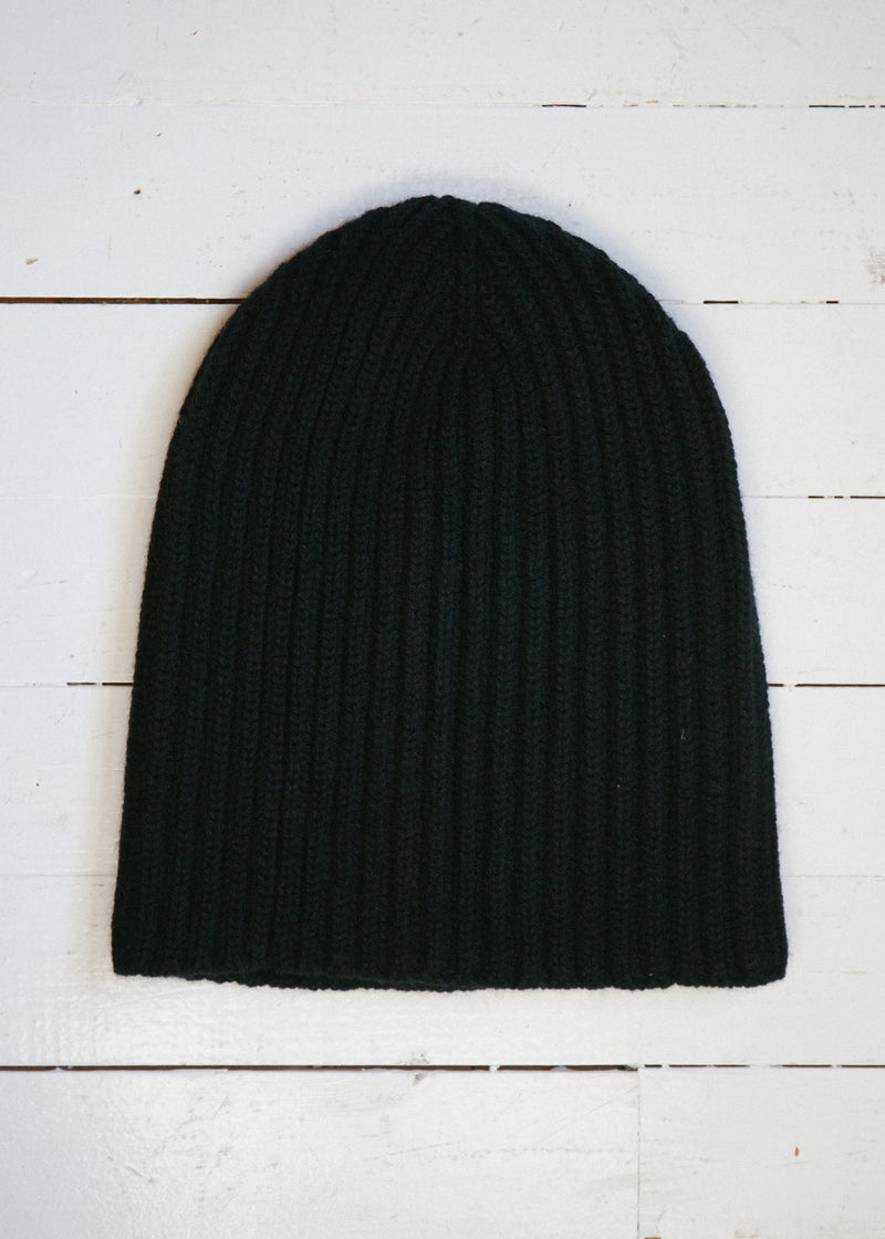 The Cashmere Beanie, Black