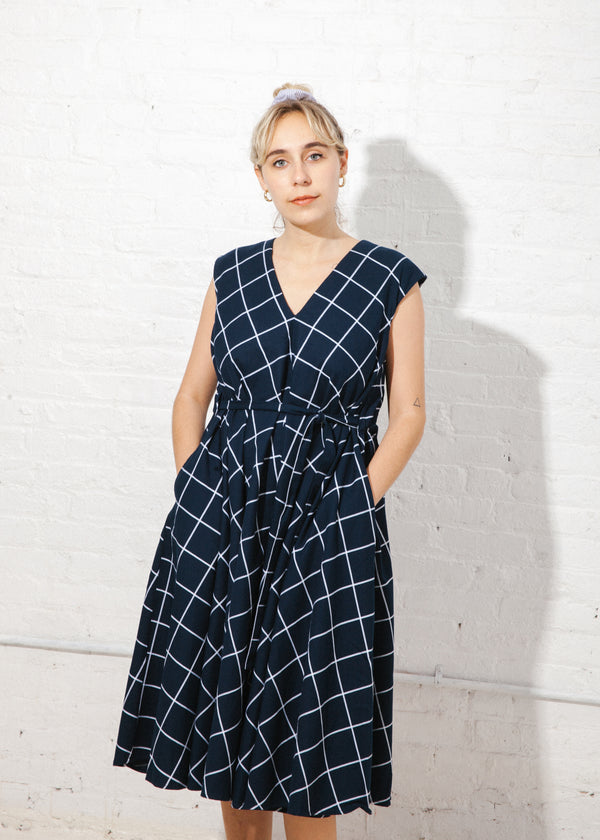 Notebook Dress in Check