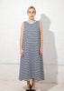 Tank Swing Dress in Navy White Stripe