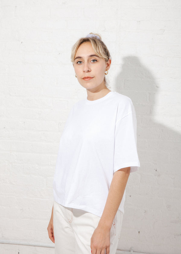 Building Block Boxy Tee in White