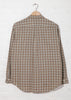Reverse Seam Shirt in Beige Check