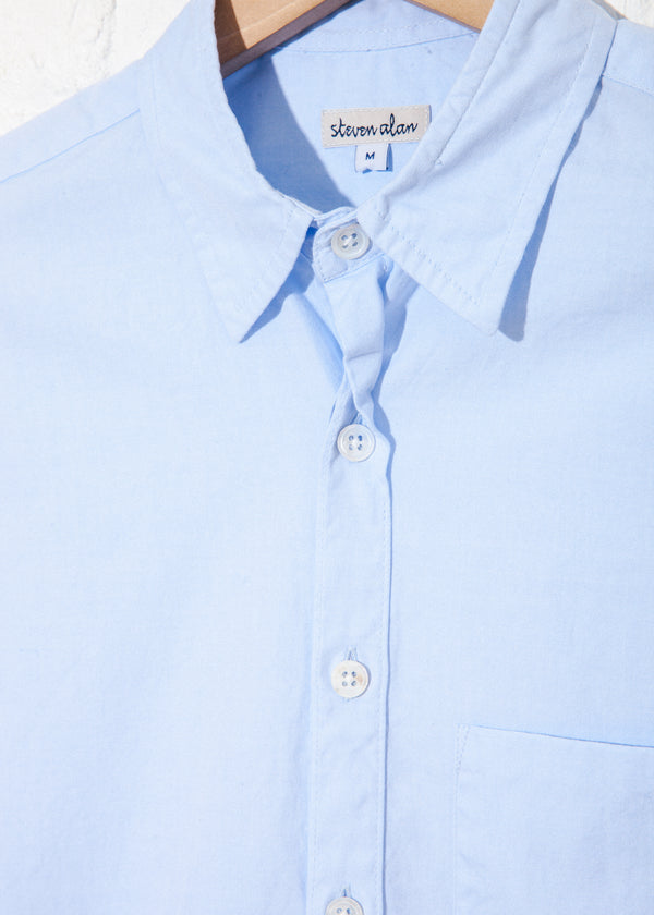 Oxford Reverse Seam Shirt in Light Blue