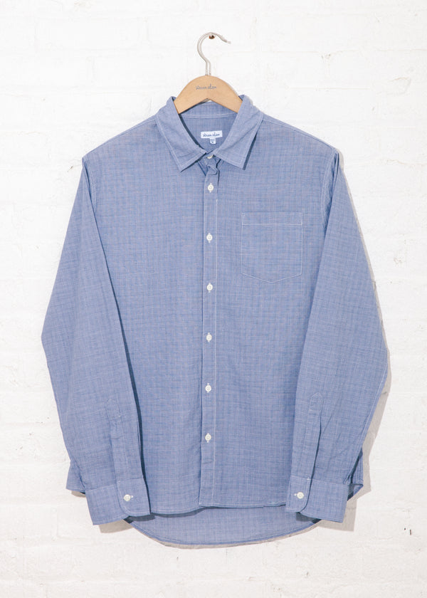 Reverse Seam Shirt in Blue Glen