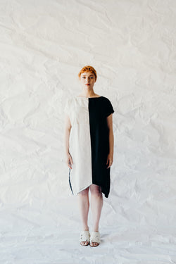 Tulip Block Dress- Ink and Parchment