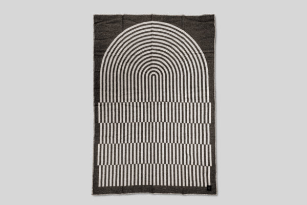 Norrebro Wool Throw Blanket (Black)