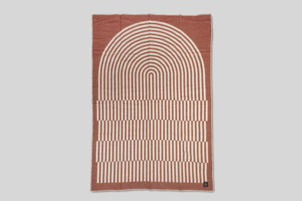 Norrebro Wool Throw Blanket (Terracotta)