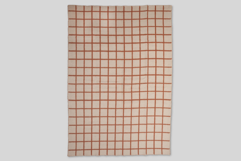 Höfn Wool Throw Blanket (Terracotta)