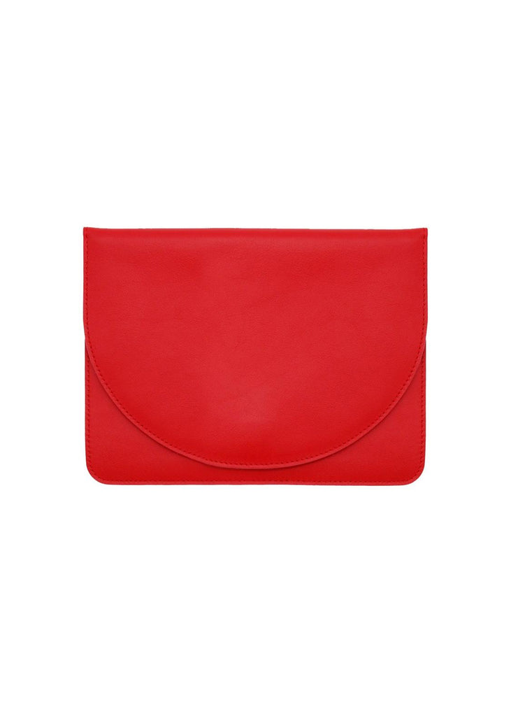 Half Moon Leather Clutch in Lolita Nappa