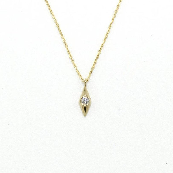 Onda Diamond Pendant / 14k Gold