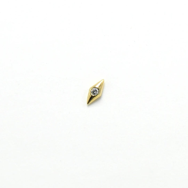Onda Diamond Stud / 14k Gold
