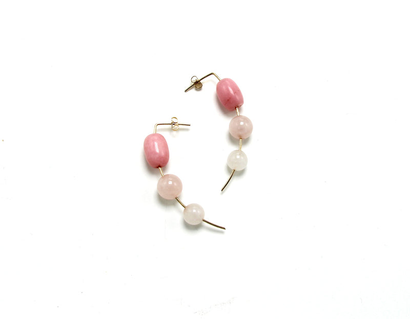 ORION DROP EARRING / RHODO + QUARTZ