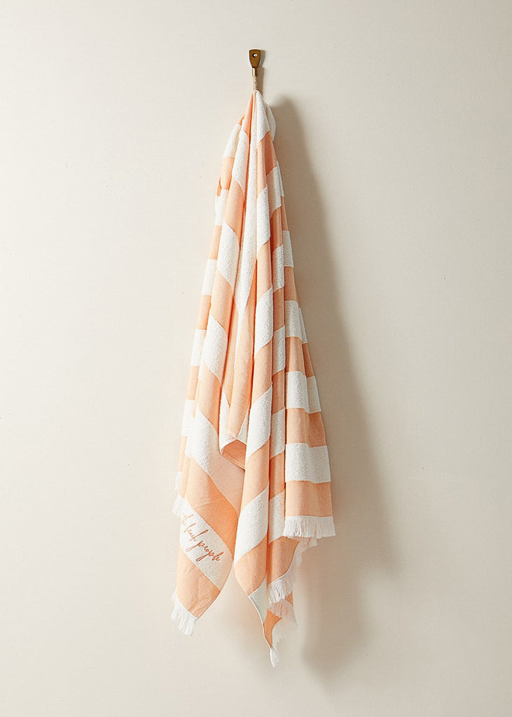 Turkish Pool Towel in Turkish Apricot