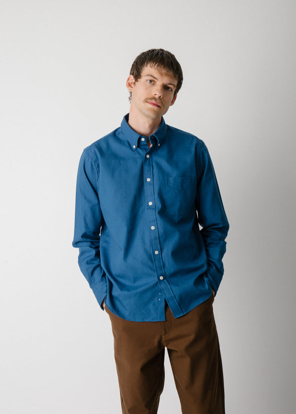 Classic Collegiate Shirt, Deep Blue Oxford