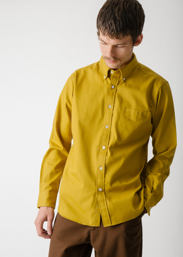 Classic Collegiate Shirt, Ochre Oxford