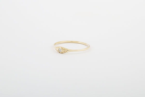14k Diamond Seedling Stacker Ring