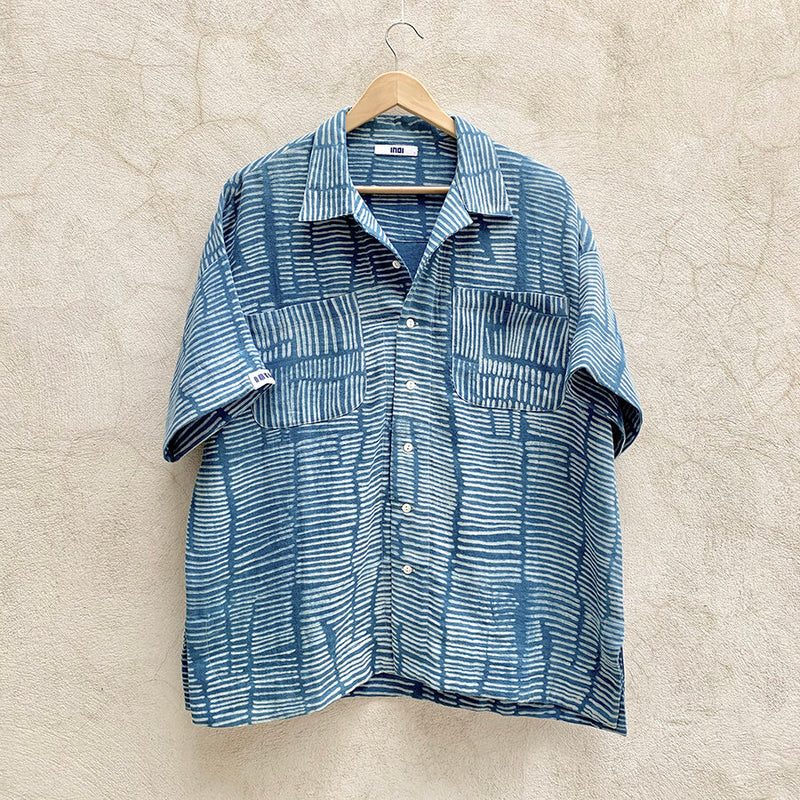 Short Sleeve Mak Camp Shirt / cotton double gauze