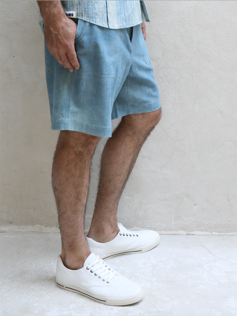 Isaac Short / cloud dye khadi