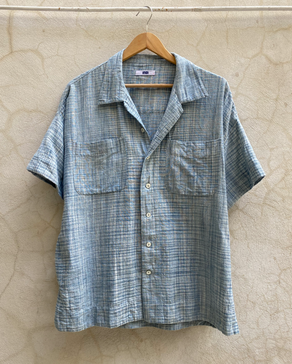 MAK CAMP SHIRT warp weft space dye
